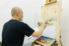 美术老师很少做范画,让学生自己临摹是否可取?