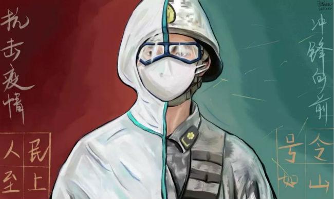 学生抗疫作品7