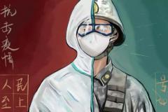 """为战""""疫""""而作的画丨浙江团基础部学子抗疫助力作品选登"""