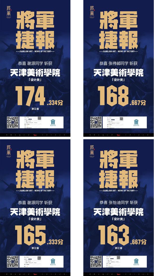 将军画室天津美术学院高分学子成绩12