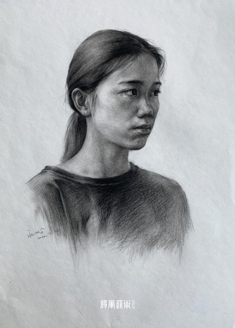 将军画室作品:熊永成素描作品3