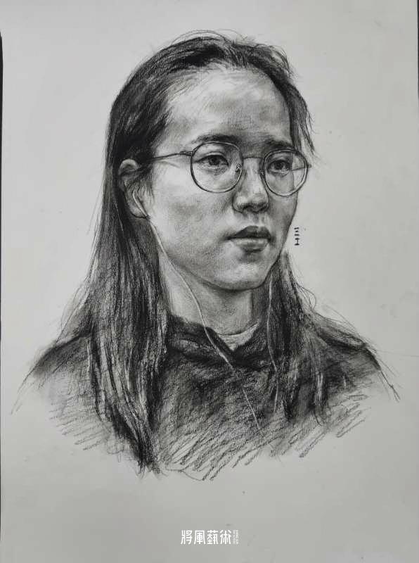 将军画室作品:江智康素描作品2