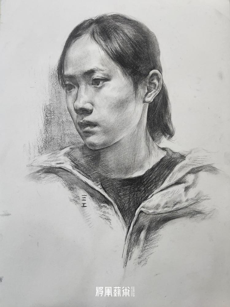 将军画室作品:江智康素描作品3