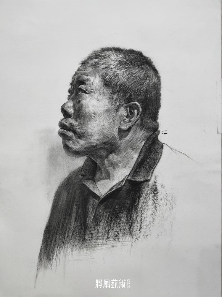 将军画室作品:江智康素描作品4