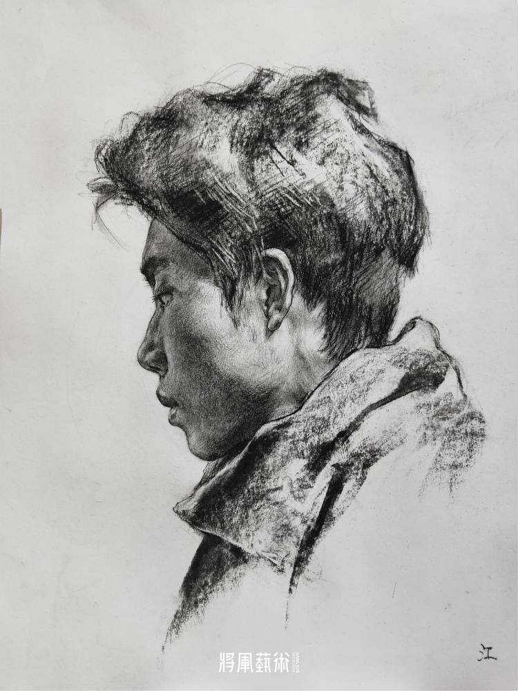 将军画室作品:江智康素描作品5