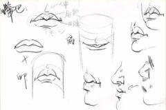 速写局部之速写鼻子、速写嘴巴画法解析!