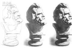 校考重点丨素描石膏像步骤及画法