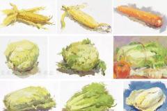 色彩蔬菜类静物画法知识点解析